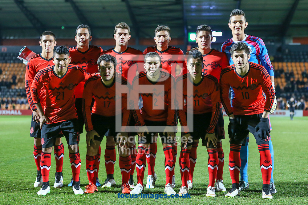 Mexico U20 team line up before the International Friendly match at The Hive Stadium, Harrow<br /> Picture by David Horn/Focus Images Ltd +44 7545 970036<br /> 25/03/2015