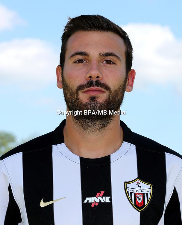 Italian League Serie B -2016-2017 / <br /> ( Ascoli Picchio F.C. 1898 ) - <br /> Alberto Almici