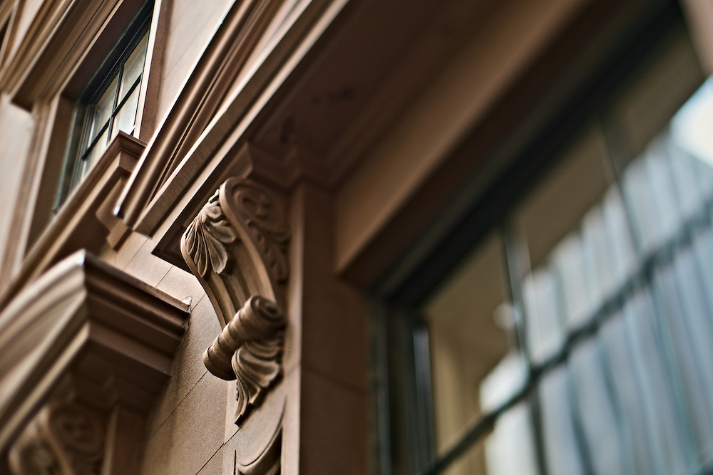 Detail of exterior of 1 Hanover Square, New York, NY, US