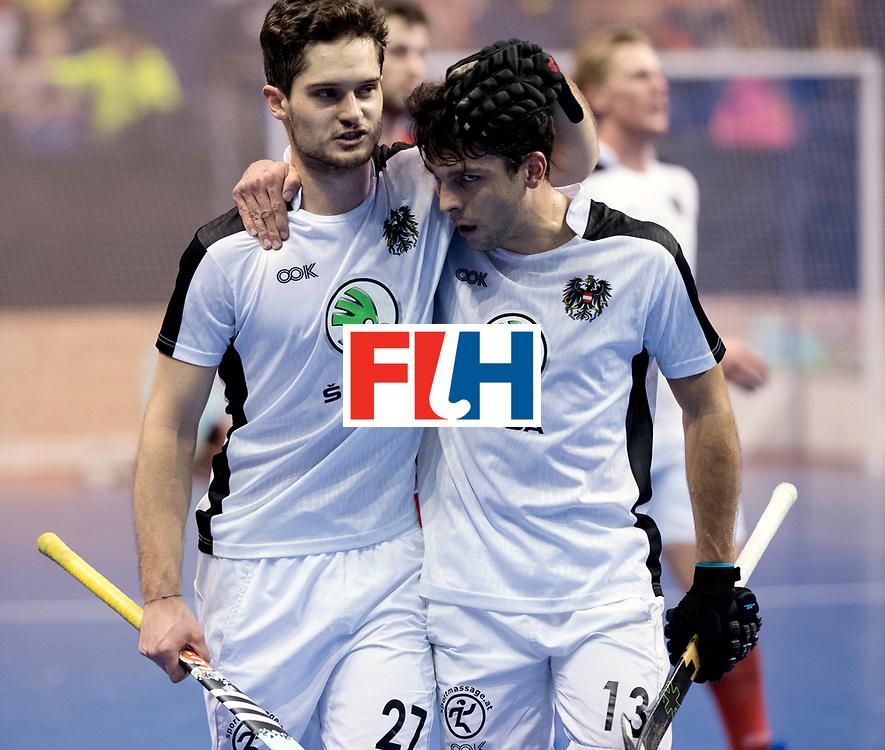 BERLIN - Indoor Hockey World Cup<br /> Quarterfinal 2: Austria - Poland<br /> foto: Xaver Hasun and Benjamin Stanzl.<br /> WORLDSPORTPICS COPYRIGHT FRANK UIJLENBROEK