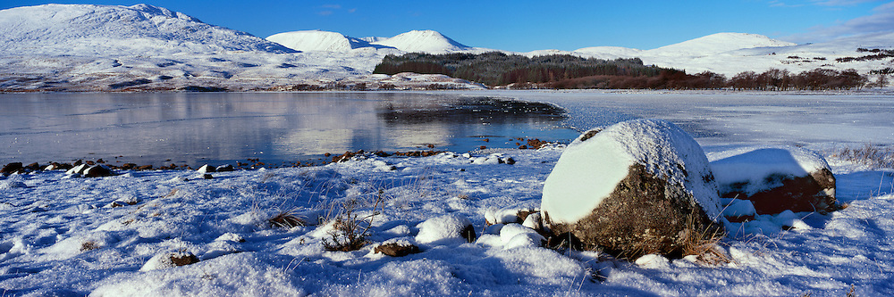 Loch Tulla looking over to Black Mount on Rannoch Moor, nr Glencoe, Scotland