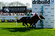 Pablo Escobarr ridden by Charles Bishop and trained by William Haggas and Living Legend ridden by Franny Norton and trained by Mark Johnston  - Ryan Hiscott/JMP - 19/04/2019 - PR - Bath Racecourse- Bath, England - Race 3 - Good Friday Race Meeting at Bath Racecourse
