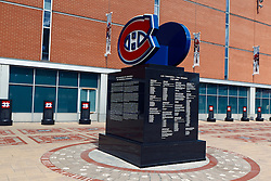 Monument for the Montreal Canadiens, outside the Bell Centre, Montreal, Quebec, Canada