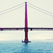 The Gold Gate Bridge in San Francisco, Calif., seen from the research vessel Ocean Starr after returning from a research trip through the Great Pacific Garbage Patch. Taken with an iPhone