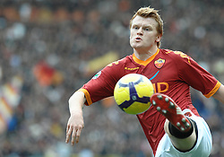 21.02.2010, Stadio Olimpico, Rom, ITA, Serie A, AS Rom vs Catania, im Bild John Arne Riise (Roma), EXPA Pictures © 2010 for Austria Croatia and Germany only, Photographer EXPA / Inside Foto / Baldassarre / for Slovenia SPORTIDA PHOTO AGENCY.