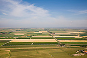 Nederland, Noord-Holland, Texel, 14-07-2008; Polder Eijerland gezien naar de Waddenzee; in de  polder het internationaal vliegveld 'De Vlijt'; verkaveling, inrichting, boerderij, . .luchtfoto (toeslag); aerial photo (additional fee required); .foto Siebe Swart / photo Siebe Swart