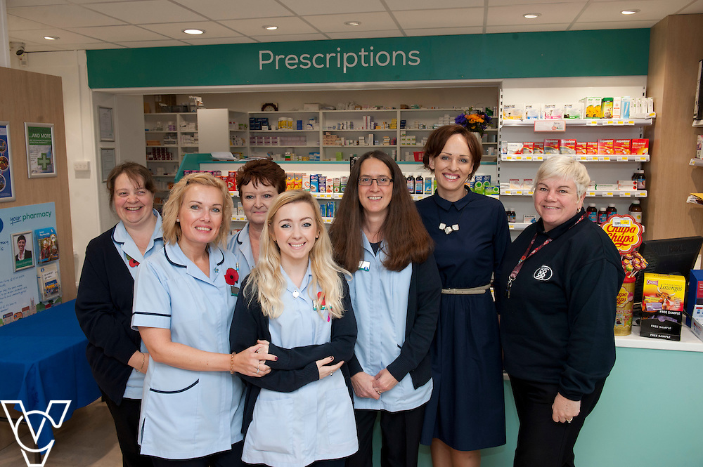 Pictured is the Lincolnshire Co-operative Washingborough Pharmacy team, from left, Janice Ashby, Jo Gregory, Maggie Insley, Katarina Melladay, Clare Burford, pharmacist Gosic Czerniak and Jo Sambrook<br /> <br /> Official re-opening of the refurbished Washingborough Food Store and precinct, which includes the Co-op Pharmacy.<br /> <br /> Date: October 30, 2015<br /> Picture: Chris Vaughan/Chris Vaughan Photography