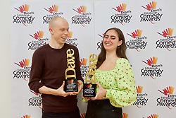 Jordan Brookes, winner of best comedy show, and Catherine Cohen, best newcomer, at the Edinburgh Comedy Awards 2019 pic Terry Murden @edinburghelitemedia
