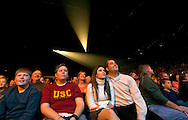 11/11/06 -- Omaha, NE  People enjoy watching The Blue Man Group perform   at the Qwest Center Omaha..Photo by Chris Machian/Prairie Pixel Group
