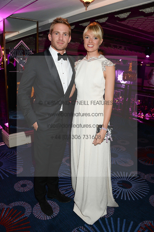British fine jewellery brand Boodles welcomed guests for the 2013 Boodles Boxing Ball in aid of Starlight Children's Foundation held at the Grosvenor House Hotel, Park Lane, London on 21st September 2013.<br /> Picture Shows:-JACOBI ANSTRUTHER-GOUGH-CALTHORPE and ISABELLA BRANSON.<br /> <br /> Press release - https://www.dropbox.com/s/a3pygc5img14bxk/BBB_2013_press_release.pdf<br /> <br /> For Quotes  on the event call James Amos on 07747 615 003 or email jamesamos@boodles.com. For all other press enquiries please contact luciaroberts@boodles.com (0788 038 3003)