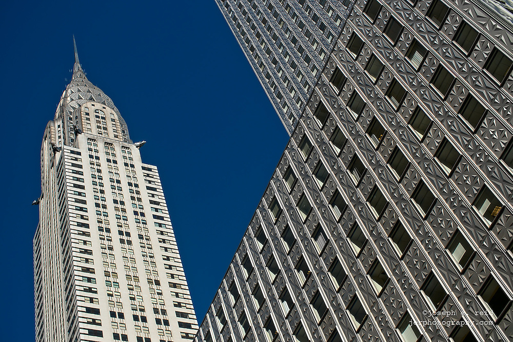 Chrysler Building and clear blue sky, New York, NY, US