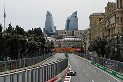 April 27, 2018 - Baku, Azerbaijan - SIROTKIN Sergey (rus), Williams F1 Mercedes FW41, action during the 2018 Formula One World Championship, Grand Prix of Europe in Azerbaijan from April 26 to 29 in Baku - Photo  /  Motorsports: World Championship; 2018; Grand Prix Azerbaijan, Grand Prix of Europe, Formula 1 2018 Azerbaijan Grand Prix, (Credit Image: © Hoch Zwei via ZUMA Wire)