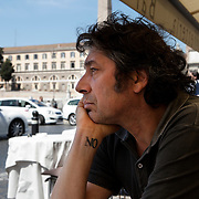 "Rome, Italy, April 18, 2013. Alessandro Veronesi, Italian writer, author of ""Caos Calmo"" and ""Baci scagliati altrove""."