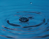 High-speed photography of a waterdrop.