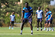 Forest Green Rovers Manny Monthe(6) during the Forest Green Rovers Training session at Browns Sport and Leisure Club, Vilamoura, Portugal on 24 July 2017. Photo by Shane Healey.