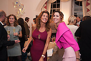 VALERIE GUT; VALERIA NAPOLEONE; , Valeria Napoleone hosts a dinner at her apartment e to celebrate the publication of her book  Valeria Napoleone's Catalogue of Exquisite Recipes. Palace Green. Kensington. London. 28 September 2012.