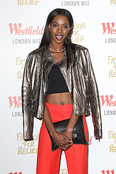 © Licensed to London News Pictures. 27/11/2014, UK.  Sigail Currie, Naomi Campbell Fashion For Relief Pop-Up Shop - launch party, Westfield London UK, 27 November 2014. Photo credit : Richard Goldschmidt/Piqtured/LNP