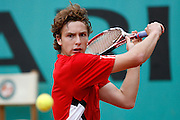 Roland Garros. Paris, France. June 3rd 2008..Ernest GULBIS against Novak DJOKOVIC..1/4 Finals...