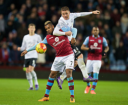BIRMINGHAM, ENGLAND - Tuesday, March 1, 2016: Everton's James McCarthy in action against Aston Villa's Leandro Bacuna during the Premier League match at Villa Park. (Pic by David Rawcliffe/Propaganda)