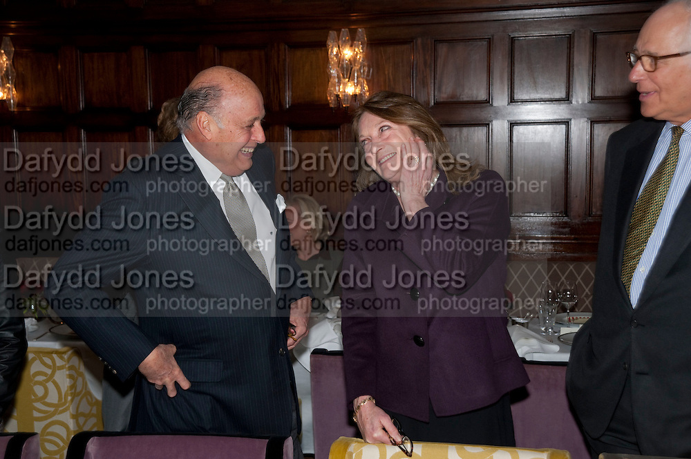 REINALDO HERRERA; LEONORA COUNTESS OF LICHFIELD; Graydon and Anna Carter host a lunch for Carolina Herrera to celebrate the ipening of her new shop on Mount St. .The Connaught. London. 20 January 2010