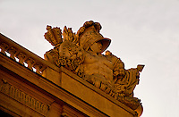 Palace of Versailles. Bust and adornment on roof