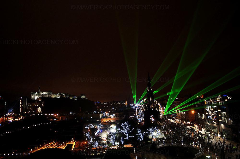 EDINBURGH, UK. Hogmanay 2009 laser show...Picture Richard Scott/Maverick