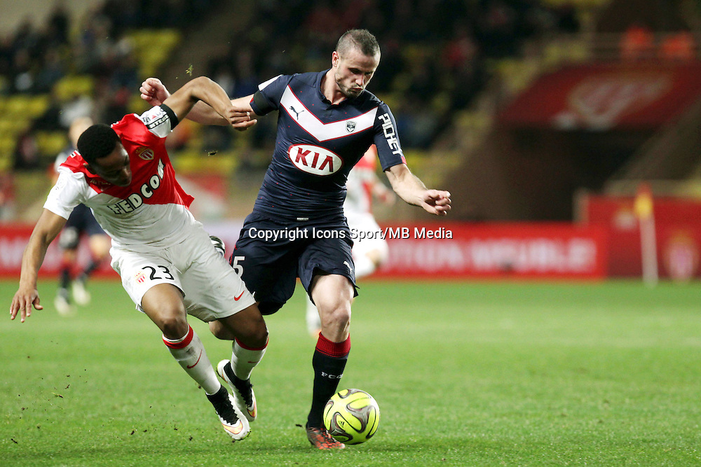 Anthony MARTIAL / Nicolas PALLOIS - 11.01.2015 - Monaco / Bordeaux - 20e journee de Ligue 1<br />