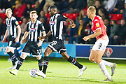 Grimsby Town forward Moses Ogbu in possession of the ball during the EFL Sky Bet League 2 match between Salford City and Grimsby Town FC at Moor Lane, Salford, United Kingdom on 17 September 2019.