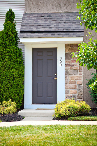 Superieur Apartment Front Door Entry Stock Photo
