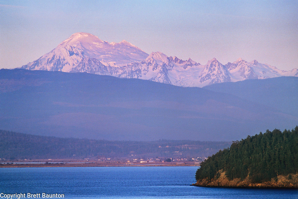 Mt. Baker from Anacortes, WA, San Juan Islands