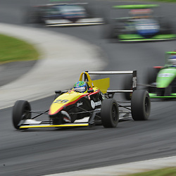 May 23, 2009; Lakeville, CT, USA; Fabio Orsolon leads a pack during the first Formula 2000 Championship Series race during the Memorial Day Road Racing Classic weekend at Lime Rock Park.