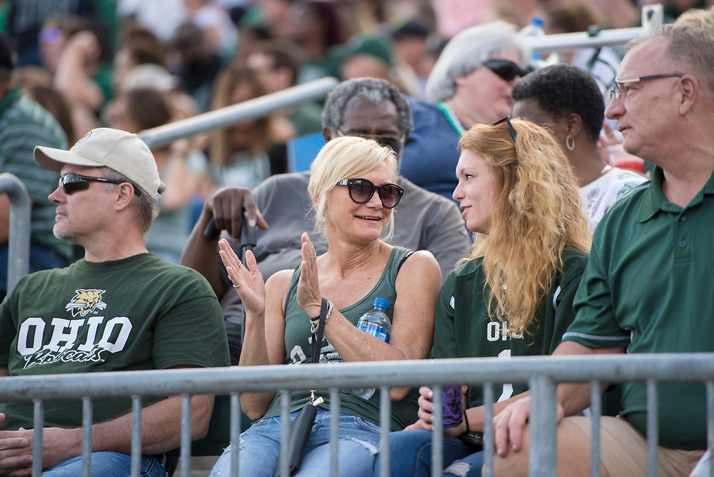 Students and parents watch Ohio University Bobcats take on UMass on Sept 29, 2018 at Peden Stadium. Photo by Hannah Ruhoff