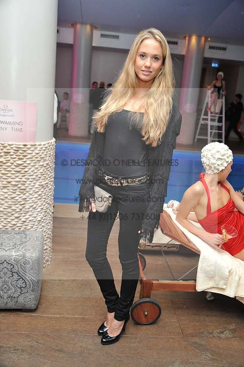 FLORENCE BRUDENELL-BRUCE at a pool party to celebrate the UK launch of the Omega Ladymatic Collection held at the Haymarket Hotel, Haymarket, London on 16th June 2011.