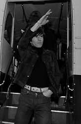 The Rolling Stones Charlie is my Darling - Ireland 1965..Brian Jones and Keith Richards of The Rolling Stones exiting the airport bus at Dublin Airport before thier concert at the Adelphi Theatre. This was the band's second Irish tour of 1965...The Rolling Stones Charlie is my Darling - Ireland 1965.Out November 2nd from ABKCO.Super Deluxe Box Set/Blu-ray and DVD Details Revealed. ..03/09/1965..09/03/1965..03 September 1965...ABKCO Films is proud to join in the celebration of the Rolling Stones 50th Anniversary by announcing exclusive details of the release of the legendary, but never before officially released film, The Rolling Stones Charlie is my Darling - Ireland 1965.  The film marked the cinematic debut of the band, and will be released in Super Deluxe Box Set, Blu-ray and DVD configurations on November 2nd (5th in UK & 6th in North America).. .The Rolling Stones Charlie is my Darling - Ireland 1965 was shot on a quick weekend tour of Ireland just weeks after ?(I Can't Get No) Satisfaction? hit # 1 on the charts and became the international anthem for an entire generation.  Charlie is my Darling is an intimate, behind-the-scenes diary of life on the road with the young Rolling Stones featuring the first professionally filmed concert performances of the band's long and storied touring career, documenting the early frenzy of their fans and the riots their live performances incited.. .Charlie is my Darling showcases dramatic concert footage - including electrifying performances of ?The Last Time,? ?Time Is On My Side? and the first ever concert performance of the Stones counterculture classic, ?(I Can't Get No) Satisfaction.?  Candid, off-the-cuff interviews are juxtaposed with revealing, comical scenes of the band goofing around with each other. It's also an insider's glimpse into the band's developing musical style by blending blues, R&B and rock-n-roll riffs, and the film captures the spark about to combust into The Greatest Rock and Roll Band in the World.. .