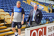 Mansfield Town management team of Steve Evans and Paul Raynor before the EFL Sky Bet League 2 match between Mansfield Town and Luton Town at the One Call Stadium, Mansfield, England on 26 August 2017. Photo by Nigel Cole.