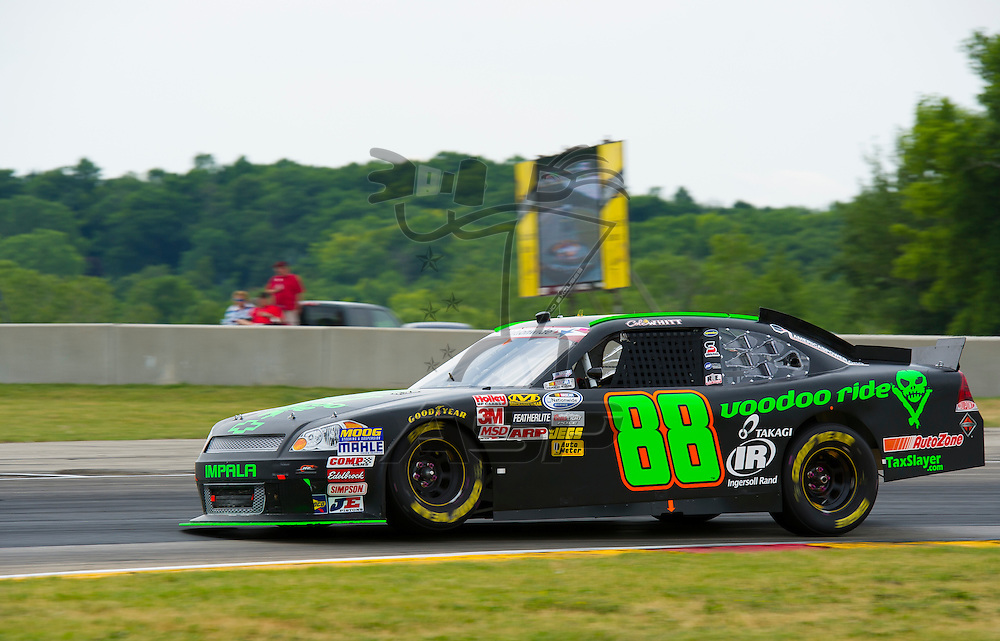 Elkhart Lake,WI - JUN 23, 2012: Cole Whitt (88) drives during the Sargento 200 at Road of America in Elkhart Lake , WI.