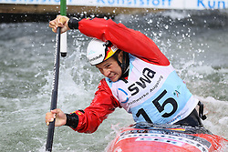 28.02.2013, Eiskanal, Augsburg, GER, ICF Kanuslalom Weltcup, 2. Rennen, im Bild Franz ANTON (GER), C1, Canadier Einer, // during 2nd race of ICF Canoe Slalom World Cup at the ice track, Augsburg, Germany on 2013/06/28. EXPA Pictures © 2013, PhotoCredit: EXPA/ Eibner/ Klaus Rainer Krieger<br /> <br /> ***** ATTENTION - OUT OF GER *****