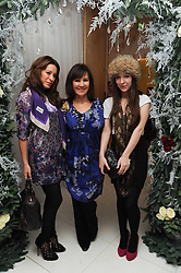ARLENE PHILLIPS and her daughters, left, ALANA and right ABI at the launch of the English National Ballet's Christmas season 2009 held at the St.Martin;s Lane Hotel, London on 15th December 2009.
