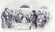 the game is done gentlemen. Nothing goes anymore lithography by George Barnard 1840. At the game table in the classroom in Bad-Schwalbach, Germany