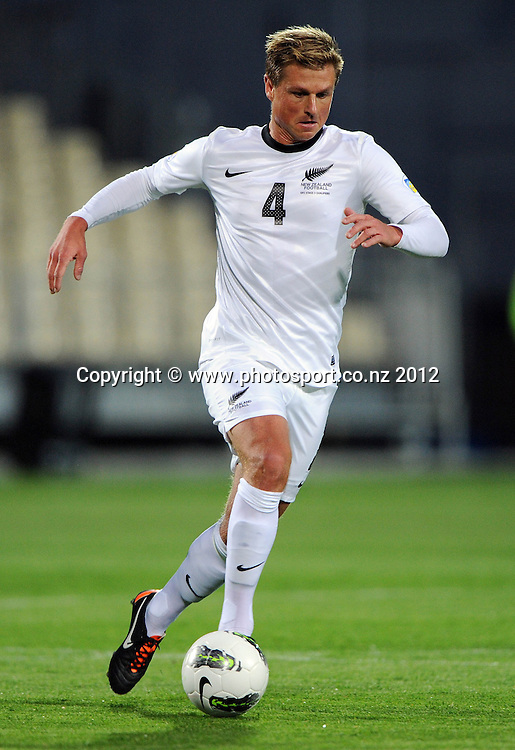 Ben Sigmund. New Zealand All Whites v Tahiti. FIFA World Cup Qualifier Football match at AMI Stadium. Christchurch, New Zealand. Tuesday 16 October 2012. Photo: Andrew Cornaga/photosport.co.nz