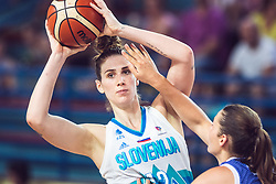 Eva Lisec of Slovenia during Women's Basketball - Slovenia vs Slovaska on the 14th of June 2019, Dvorana Poden, Skofja Loka, Slovenia. Photo by Matic Ritonja / Sportida