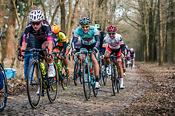 Rider of Colavita/Bianchi (USA) on the cobblestones of Schaapstreek during the UCI Women's WorldTour Ronde van Drenthe at Odoorn, Drenthe, The Netherlands, 11 March 2017. Photo by Pim Nijland / PelotonPhotos.com | All photos usage must carry mandatory copyright credit (Peloton Photos | Pim Nijland)
