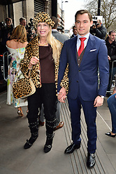 © Licensed to London News Pictures. 08/03/2016. LADY COLIN CAMPBELL AND son DIMA ZIADIE arrives for the TRIC Awards. The Television and Radio Industries Club's annual awards ceremony, honour's the best performers and programmes  of the last year .London, UK. Photo credit: Ray Tang/LNP