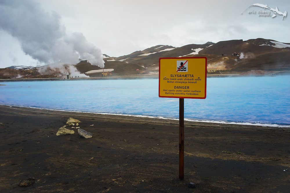 The milky blue waters of this geothermal power plant near Myvatn, Iceland, looks like it is glowing! So beautiful.