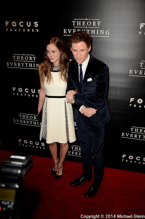 NYC, New York - October 20: Eddie Redmayne and Hannah on the red carpet for their new motion picture The Theory of Everything at Museum of Modern Art MOMA on October 20, 2014 in New York, New York. Photo Credit: Michael Glenn / Retna Ltd
