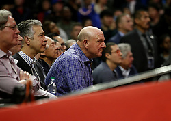 March 8, 2019 - Los Angeles, California, U.S - Los Angeles Clippers owner Steve Ballmer attends an NBA basketball game between Los Angeles Clippers and Oklahoma City Thunder Friday, March 8, 2019, in Los Angeles. (Credit Image: © Ringo Chiu/ZUMA Wire)