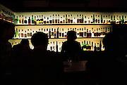 Spanje, Barcelona, 10-1-2004....Cafe, bar in stadsdeel La Ribera. Flessen sterke drank. Alcohol, horeca, ontspanning, uitgaan.....Foto: Flip Franssen