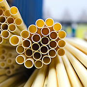 Nederland Zuid-Holland Zoetermeer  27-08-2009 20090827 Foto: David Rozing ..Serie over bouwsector. Stilleven bouwmaterialen pvc buizen.  Constucting materials tubes.  .Holland, The Netherlands, dutch, Pays Bas, Europe ..Foto: David Rozing