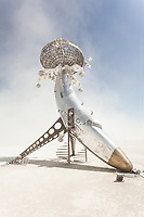 Lodestar by: Randy Polumbo from: New York, NY year: 2018<br /> <br /> Lodestar is made of an old military jet that has been involuntarily blossomed into a contemplative flower and gathering place for human pollinators.<br /> <br /> URL: http://polumbo.com My Burning Man 2018 Photos:<br />