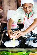 "Amena making Appam, South Indian ""crepe"""